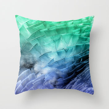 RUFFLES Throw Pillow by Catspaws | Society6