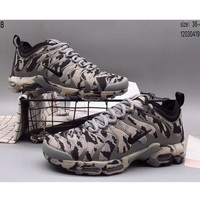 NIKE AIR MAX PLUS full palm cushion camouflage trend sports shoes F-A36H-MY Camouflage gray