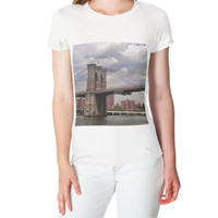 Women T-shirt Brooklyn Bridge