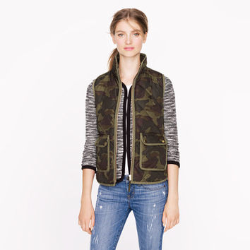 Excursion quilted vest in camo - outerwear - Women's new arrivals - J.Crew