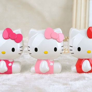 New arrive 11000mAh Hello Kitty Power Bank Portable Powerbank Battery charger for iphone 5 6  samsung galaxy s6 For xiaomi mi5