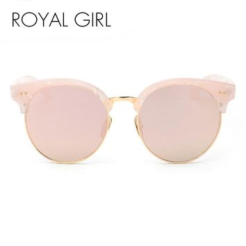 ROYAL GIRL Brand half rim Sunglasses CAT EYE Sun shades lenses Half frame goggles Women Tinted Glasses ss906
