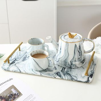 Marble Ceramic Tea and Coffee Service Set