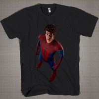 Andrew Garfield As Spider Man  Mens and Women T-Shirt Available Color Black And White