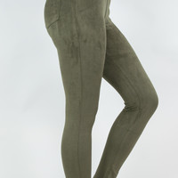 Velvet Olive Jeggings