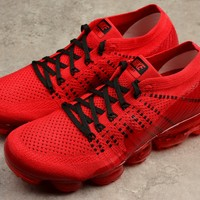 Clot x Nike 2018 Air Max Vapormax Flyknit Red Women Men Running Sport Casual Shoes Sneakers