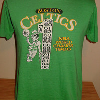 Authentic Vintage 1986 Boston Celtics Tshirt