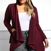 Let's Slay Plus Size Hooded Cardigan Tops+ GS-LOVE