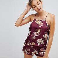 New Look Floral Print Pyjama Cami Top at asos.com