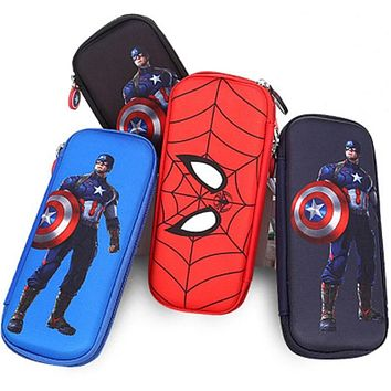 School supplies stationery box hard pencil case high-capacity pencil case Spiderman pencil case Captain America
