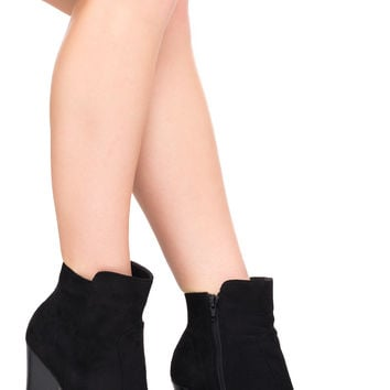 FAUX SUEDE WESTERN BOOTIE
