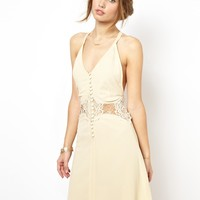 Jarlo Siobhan Cami Mini Slip Dress with Lace Insert - Pink $53.32