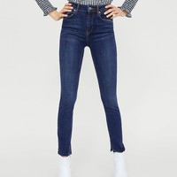 JEANS THE SKINNY IN RINSE STILLA DETAILS