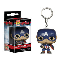 4cm Funko Pop Capatain America  car keychain marvel toys 2016 New the avengers 2 age of ultron movie hulk spiderman figurines hwd