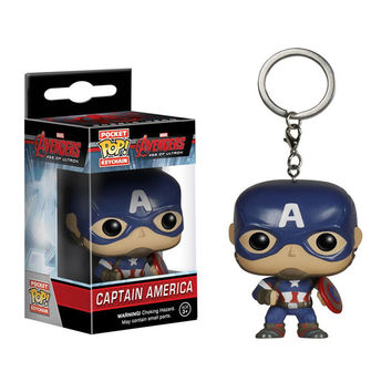 4cm Funko Pop Capatain America car keychain marvel toys 2016 New the avengers 2 age of ultron movie hulk spiderman figurines