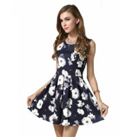 Flower Print Cute Dress