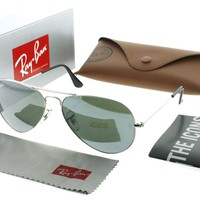 Ray Ban RB 3025 W3277 Silver RB3025 Aviator Sunglasses