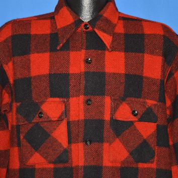 40s Big Yank Buffalo Plaid Men's Shirt Large