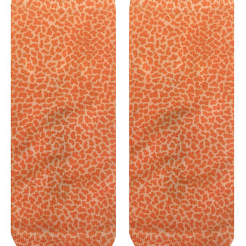 Pebble Orange Ankle Socks