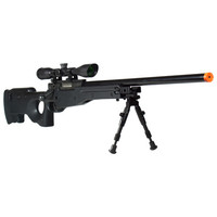 Leapers Accushot Shadow Ops Airsoft Sniper Rifle Black