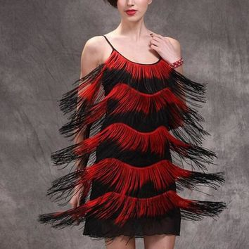 1920s Flapper Fringe Gatsby Dress