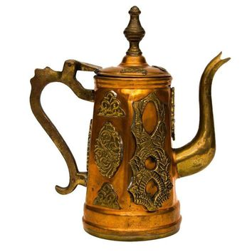 Pre-owned Moroccan Copper & Brass Pitcher