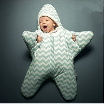 Baby cute Star Sleeping Bag kids Warm Baby Blanket Swaddling Sleeping Bags baby bed accessories