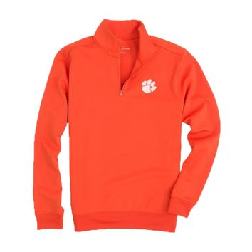 Clemson Gameday Performance Skipjack 1/4 Zip Pullover in Endzone Orange by Southern Tide