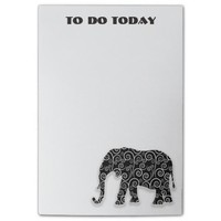 Black White Elephant To Do List Post-it® Notes