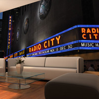 Wall Mural Decal Sticker Radio City NYC #MMartin113
