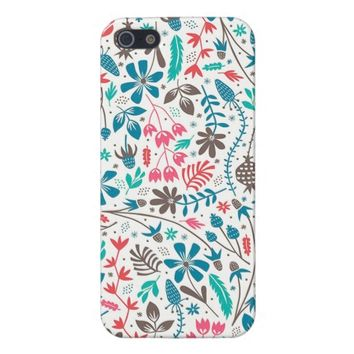Retro Floral Pattern iPhone 5 Case