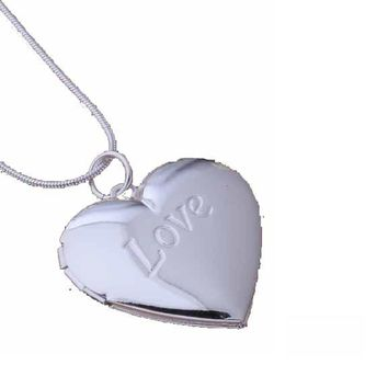 Heart Shape Silver Plated Necklace