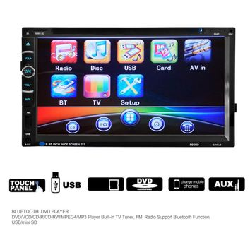 7 inch Double 2Din 800 * 480 Car Radio Universal Without GPS DVD Car Audio Car Stereo Auto USB Bluetooth Radio FM 45W*4