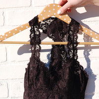 Lace Bralette- Black
