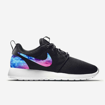 Custom Nike Roshe Run Shoes Galaxy V1 Fabric Pattern Men's Women's Birthday Present, Perfect Gift, Customized Nike Shoes