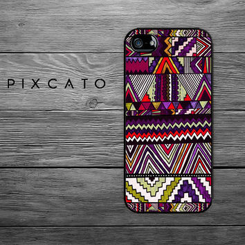 PIP - 009 - Aztec Tribal Pattern - Pattern 02 - Iphone Case, Hard Plastic - 2D