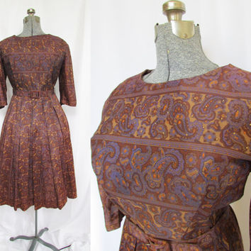 Vintage 50s Dress XL volup 50s Jack Roberts Originals