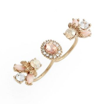 Marchesa Sheer Bliss Double Finger Ring | Nordstrom