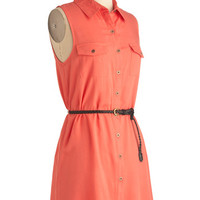 Weekend Vacation Dress in Coral | Mod Retro Vintage Dresses | ModCloth.com