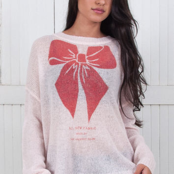 Big Red Bow Beach Bummies Sweater