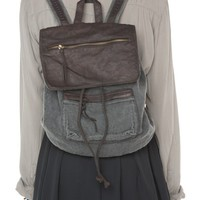 Brandy ♥ Melville |  Washed Leather Flap Backpack - Bags - Accessories