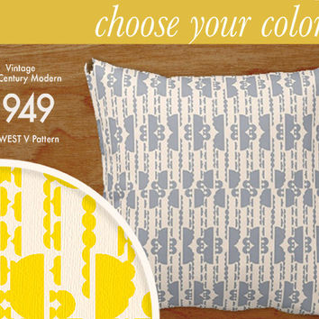 """Custom Mid-Century Modern Pattern Pillow - Midwest V - Throw Pillow, 16x16"""" or 20x20"""" pillow or pillow cover - laurenmary original design"""