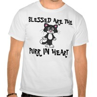 Funny Cat T-shirts, Purr in heart T Shirts