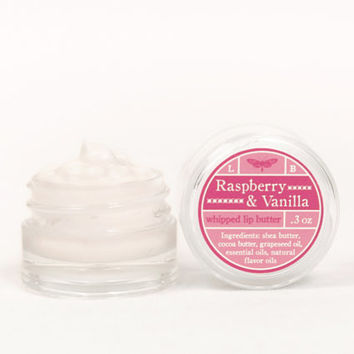 Whipped Lip Butter - Raspberry & Vanilla - Natural Icing for Your Lips