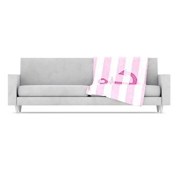 "Monika Strigel ""Stone Vintage Pink Anchor"" Fleece Throw Blanket"