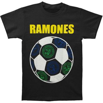Ramones Men's  Brazil Ramones Seals T-shirt Black
