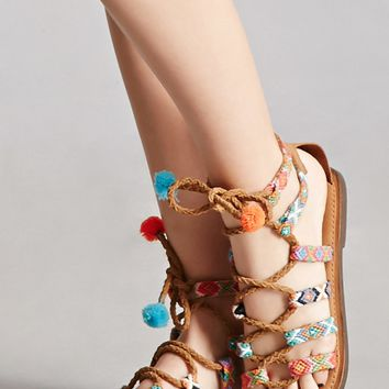 Z & L Lace-Up Leather Sandals