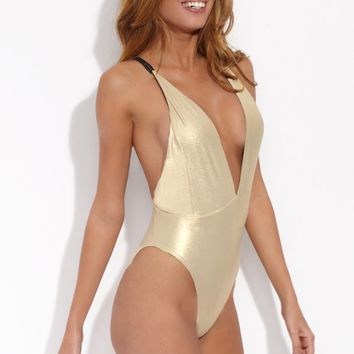 Reversible Deep V One Piece