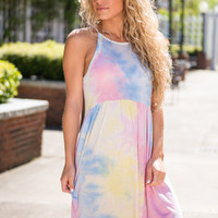 Clouds Of Candy Dress, Pink-Blue