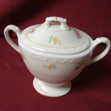 Vintage Homer Laughlin China Dinnerware Eggshell Georgian, Chintz Covered Sugar
